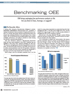 Benchmarking OEE