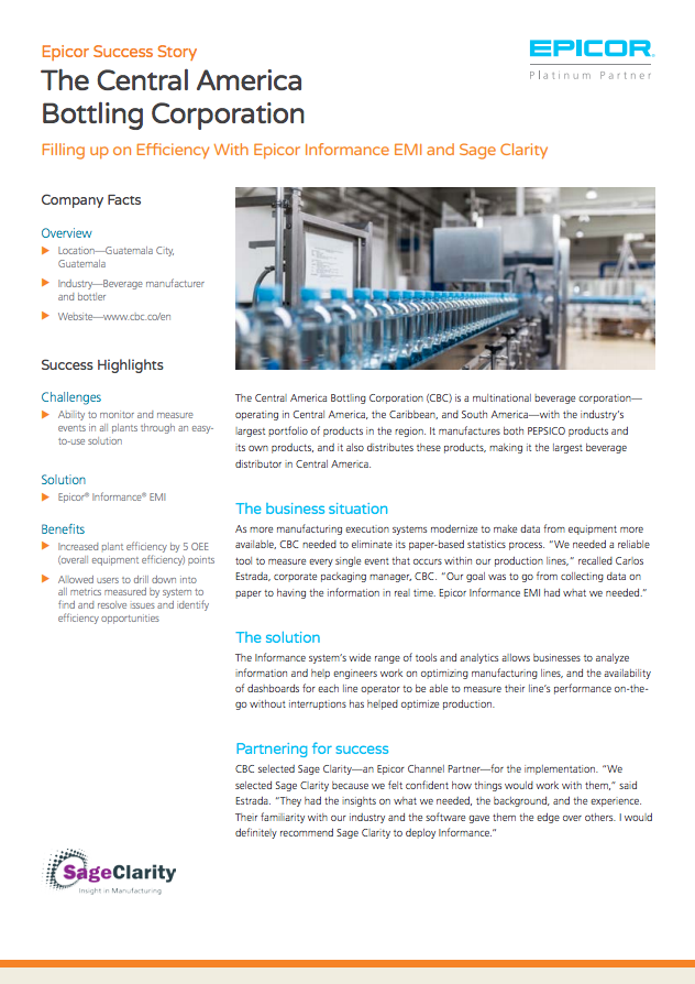 Case Study: The Central America Bottling Corporation - Sage Clarity